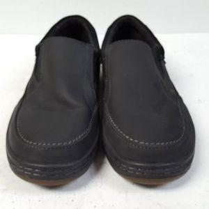 Simple Shoes - Simple Post Black Nubuck Slip On Loafer